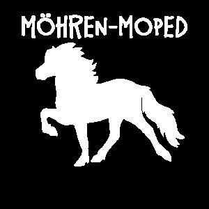 Möhren Moped Islandpferd