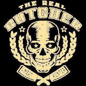 Totenkopf T-Shirt für Metzger und Grillmeister