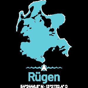 Rügen | Design-Landkarte