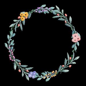 Blumenkranz Blau Pastel personalisierbar