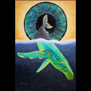 Buckelwal und Auge