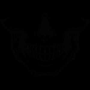 Maske mit Totenschädel