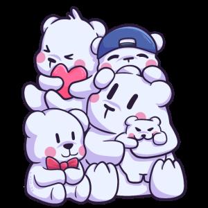 Eisbär Nordpol Schnee Arktis Familie