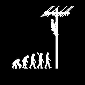 Elektriker / Mast - Evolution des Menschen /Darwin