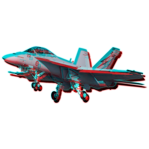 F -18 Super Hornet Glitch Effect