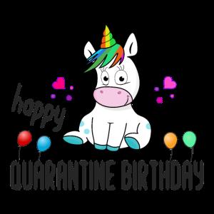 Alles Gute zum Quarantäne Geburtstag Einhorn