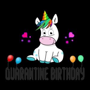 Quarantäne Geburtstag Einhorn