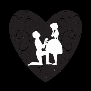 Heiratsantrag Heirat Hochzeit Design Geschenk