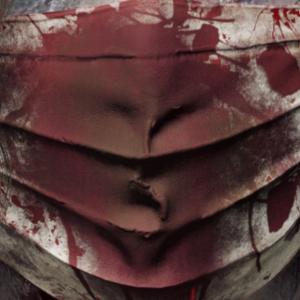 Zombie Corona Blutig Mundschutz Covid-19 Maske