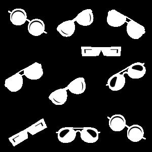 Sonnenbrillen Sortiment Weiß