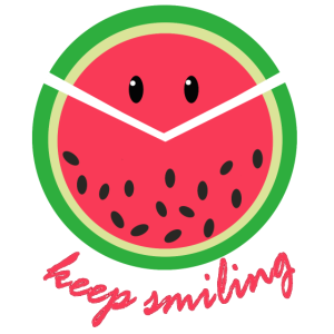 Keep smiling, Melone, lachen