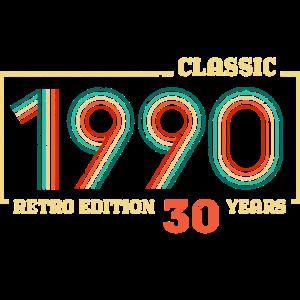 Geburtstag 1990 - 30 Jahre - RETRO