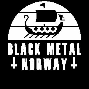 Black Metal Norwegen mit Wikingerschiff Geschenk