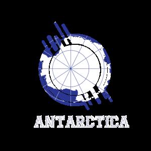 Antarktis Runder Schild Landesfarben