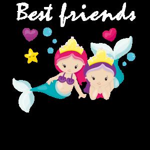Best Friends Beste Freundinnen Meerjungfrau