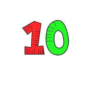 10 verde e rossa