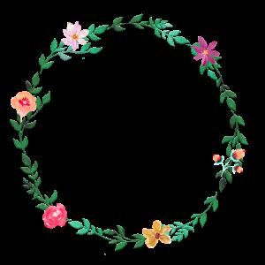 Schlichter Blumenkranz personalisierbar
