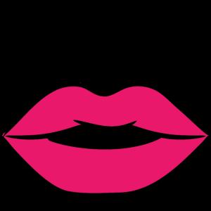 Lustige Gesichtsmaske - roter Kussmund + Nase