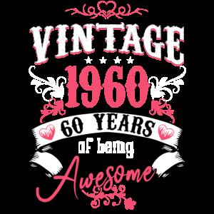 Jahrgang 1960 60 Jahre Awesome