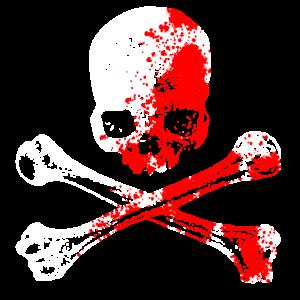 Totenkopf und Knochen