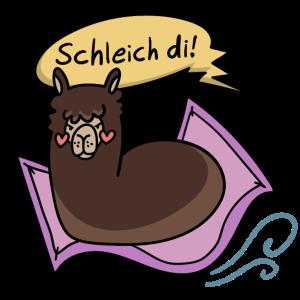 """Alpaka Bayerisch """"Schleich di"""""""
