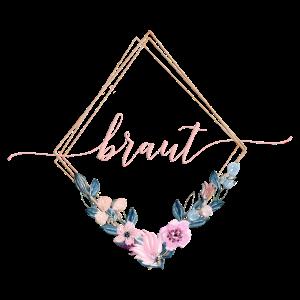 Team Braut Geometrisch Blumen Blau Rosa 1