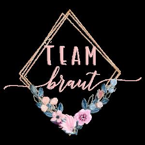 Team Braut Geometrisch Blumen Blau Rosa 2