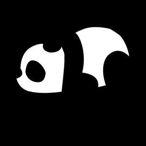 Panda faule Pandas lustig Damen Schlafshirt