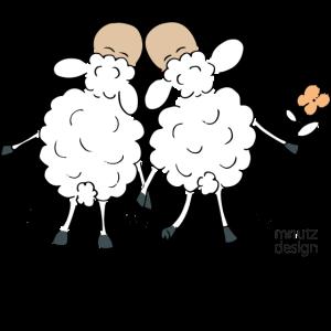 Schafe - Hochzeit - Wortspiel