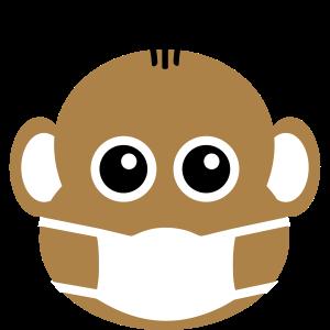 ★ Designfarben änderbar ★ Süßer Affe mit Maske