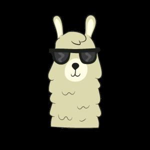 Lama - cooles Lama mit Sonnenbrille