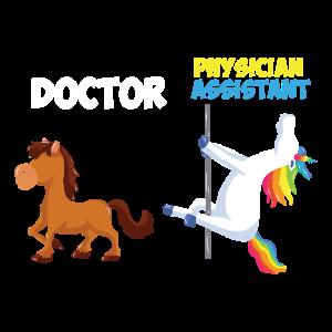 Vergleich Einhorn Pferd Arzt Arzthelferin