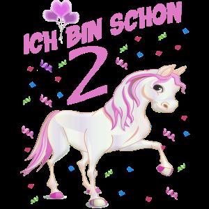 Geburtstagsshirt Pferd 2 Jahre Mädchen