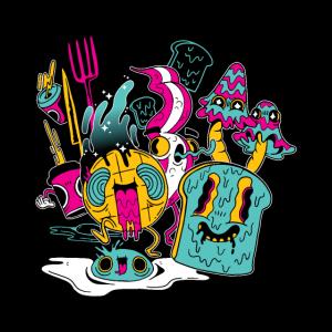 psychedelisches Frühstück