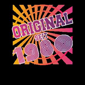 Retro Original seit 1980 geboren 40. Geburtstag