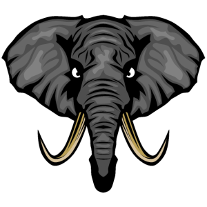 Elefant elefant Stamm Horn Ohr Logo 4 o
