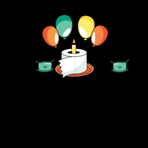 Quarantäne Geburtstag 2020 Toilettenpapier Kuchen