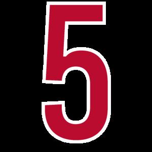 Zahl 5 Nummer Fünf