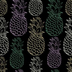 Ananas Pastellfarben