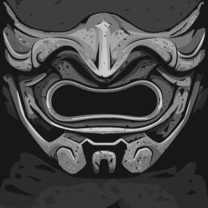 Samurai Mund-Nase Gesichtsmaske