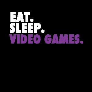 Essen Sie. Schlafen Sie. Videospiele.