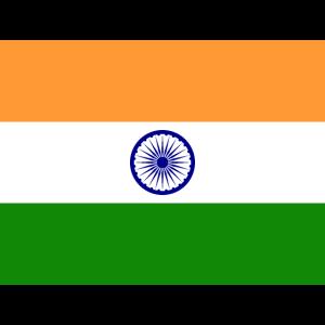 Mund- mit der Flagge Indien