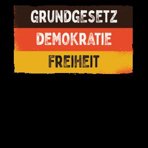Grundgesetz Demokratie Freiheit Einigkeit Recht