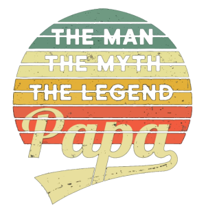 Herren Vatertag Retro The Man The Myth The Legen