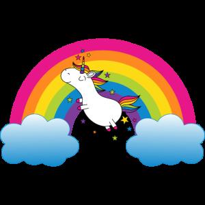Regenbogen mit Einhorn