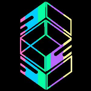 Geometrische Regenbogenquadrate Diamanten