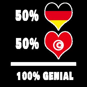 Deutschland und Tunesien Genial / Geschenk