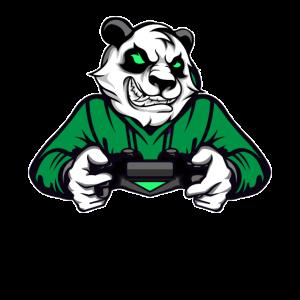 Panda Bär Gaming Konsole Zocker Nerd Gamer Video