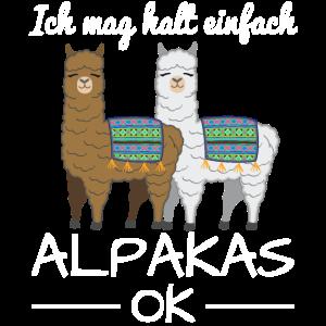 Lama Alpaka Spruch Lustig Geschenk Damen Kinder