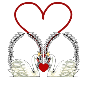 Schwäne Herz Liebe Romantik Beziehung Hochzeit